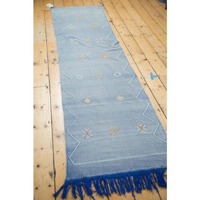"Denim Blue Kilim Rug Runner - 2'6"" X 8'10"" - Image 6 of 9"