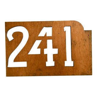 Stencil - Large Wooden Numbers Stencil - New York