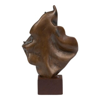 Abstract Bronze Statuette With Draped Effect For Sale
