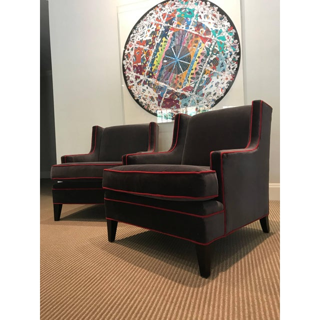 Contemporary Pair of Lounge Chairs For Sale - Image 3 of 6