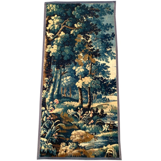 Mid-18th Century French Verdure Aubusson Tapestry With Trees and Foliage For Sale