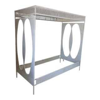 Palm Beach Chic Wicker Canopy Daybed For Sale