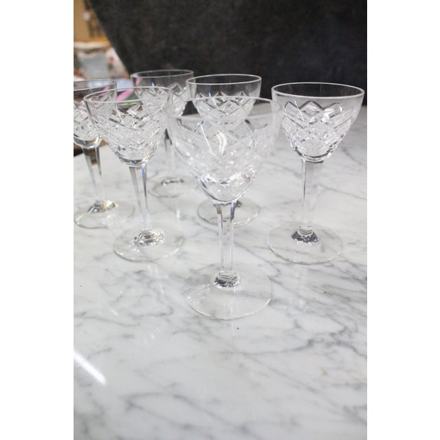 Mid 20th Century Cut Glass Liquor Cordials - Set of 6 For Sale In New York - Image 6 of 7