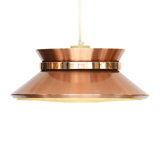 Vintage Carl-Thore Copper Pendant Light for Granhaga Metall, Sweden 1970s For Sale