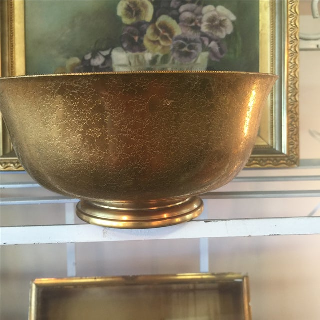 Tiffany Bronze Gold Guilt Bowl - Image 4 of 5