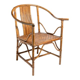 English Vintage Shoe Horse Bamboo Single Chair For Sale