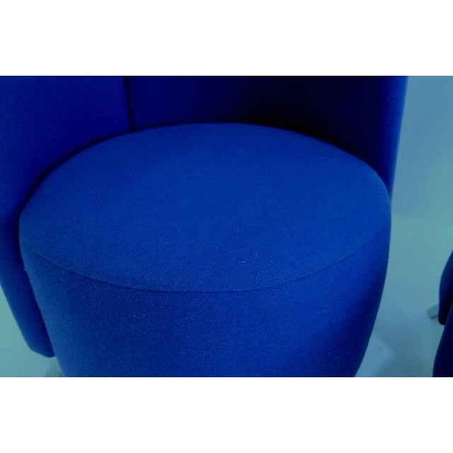 Modern Italian High Back Chairs - A Pair - Image 7 of 8