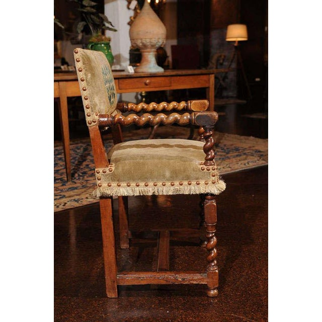 French Walnut Armchair, circa 1720 For Sale - Image 4 of 7