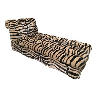 Glamorous Hollywood Velvet Chaise For Sale