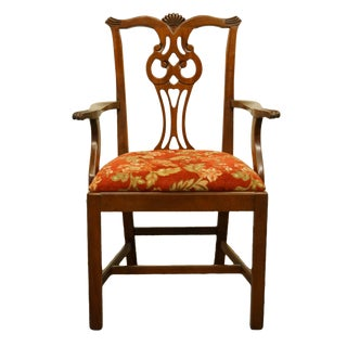 Late 20th Century Link Taylor Young Hinkle Solid Cherry English Chippendale Style Dining Chair For Sale
