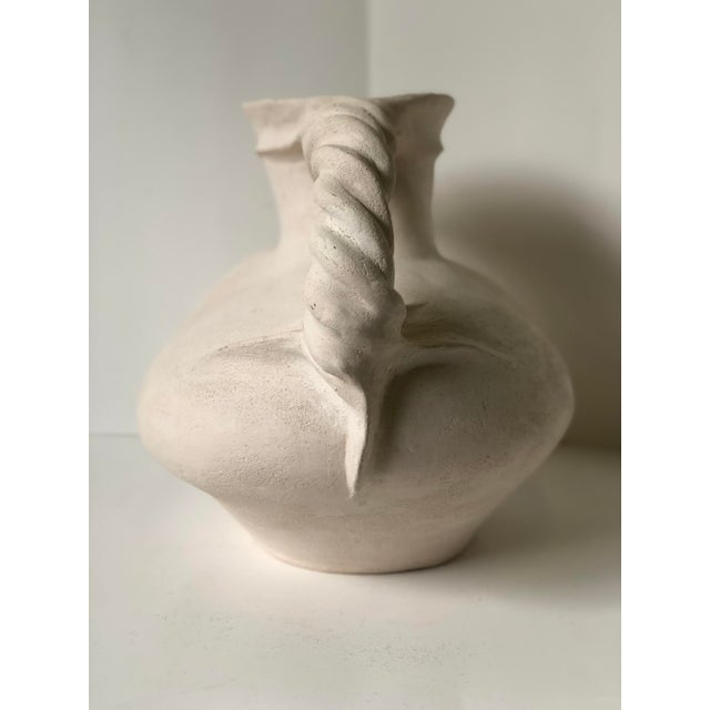 Vintage Plaster Vessel in the Grecian Askos Form For Sale - Image 9 of 13