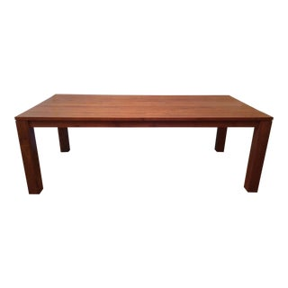 Teak Dining Table Parsons Table Pacifica by Crate & Barrel For Sale