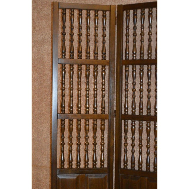Vintage Jacobean Style Wood Room Divider For Sale In Philadelphia - Image 6 of 13