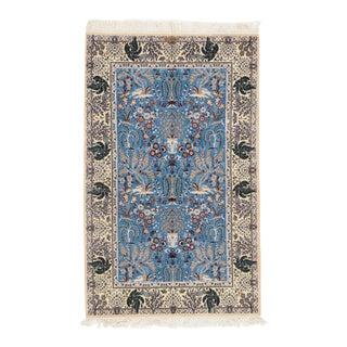 Pasargad NY Persian Nain Silk & Wool Rug - 3′9″ × 6′