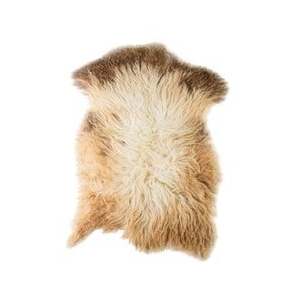"""Contemporary Natural Sheepskin Pelt Rug -2'2""""x3'8"""" For Sale"""