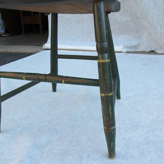 Antique Painted Pennsylvania Plank Chairs - S/6 - Image 6 of 11