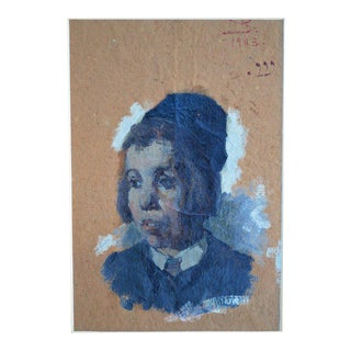 Saul Bernstein, American Died 1905 Portrait of a Jewish Boy For Sale
