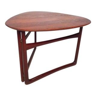 Danish Modern Folding Side Table by Peter Hvidt for France & Daverkosen For Sale
