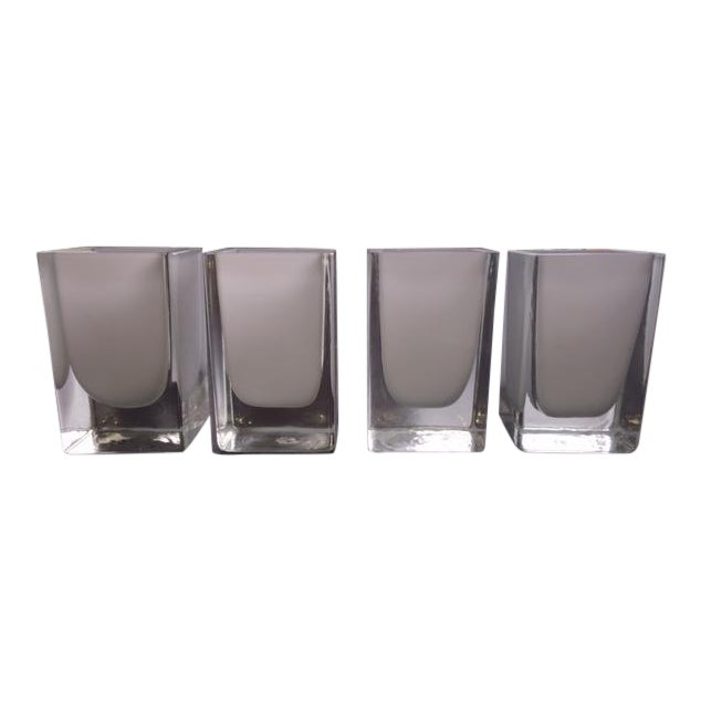 Glass Candle Holders - Set of 4 For Sale