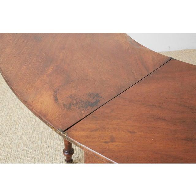 George III Regency Mahogany Wine Tasting Flip-Top Table For Sale - Image 12 of 13