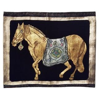 Horse Silk Velvet Pillow For Sale
