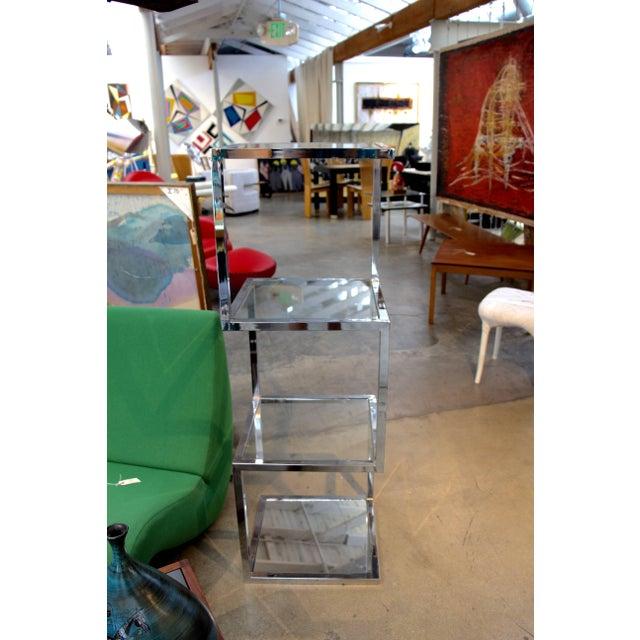 Milo Baughman Milo Baughman Chrome Etagere With Asymmetrical Form For Sale - Image 4 of 6
