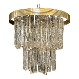 Mid-Century Modern Kalmer Icicle Fixture Having Lucite Prisms For Sale