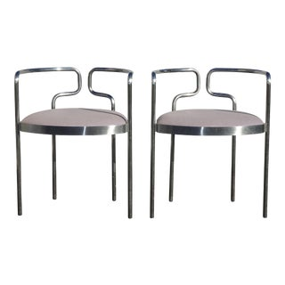 Pair Mid Century Modern Fritz Hansen Accent Chairs Made in Denmark For Sale