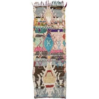 Vintage Moroccan Boucherouite Rug For Sale