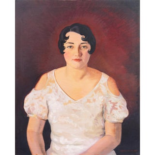 'Portrait of a Young Woman' by Frances Haines, 1933; California Woman Artist, Art Institute Chicago For Sale