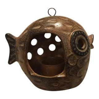 Japanese Ceramic Fish Tea Light Candle Holder For Sale