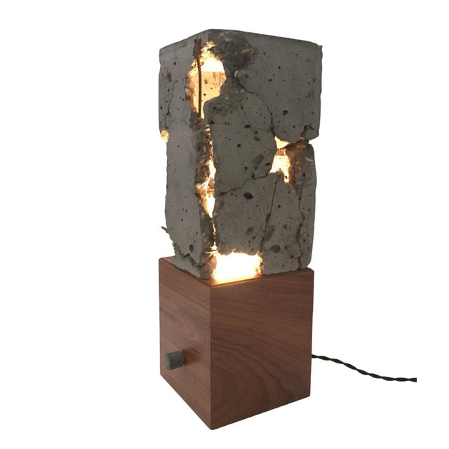 Walnut Wood Tabletop Scarpa Light For Sale In New York - Image 6 of 9