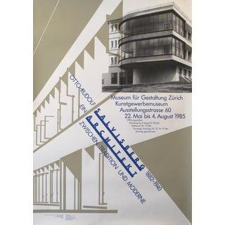 1985 Original Swiss Architecture Poster - Salvisberg Architekt For Sale