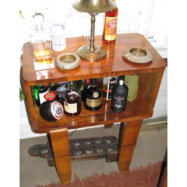 French Art Deco Burl Wood Cabinet / Liquor Bar - Image 4 of 11