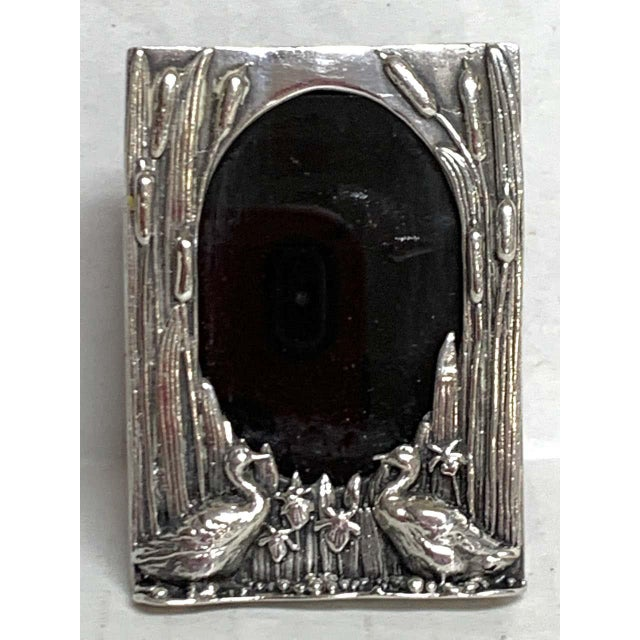 Late 20th Century English Sterling Duck Motif Small Frame, Birmingham, 1985 For Sale - Image 5 of 12