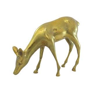 Large Brass Deer For Sale