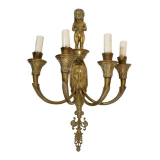 large single 19th century Neoclassic sconce