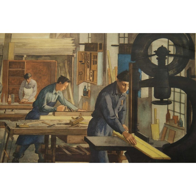 Mid-Century Modern Joinery School Poster, 1960s For Sale - Image 3 of 6
