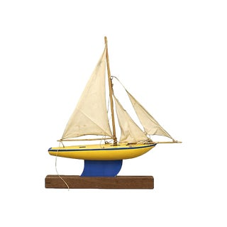 Mid-Century English Pond Boat For Sale
