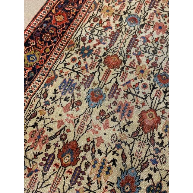 "Textile Classic Antique Persian Sarouk Rug, 4'4"" X 6'5"" For Sale - Image 7 of 11"