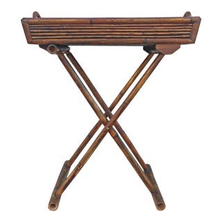 20th Century Asian Bamboo Tray Table For Sale