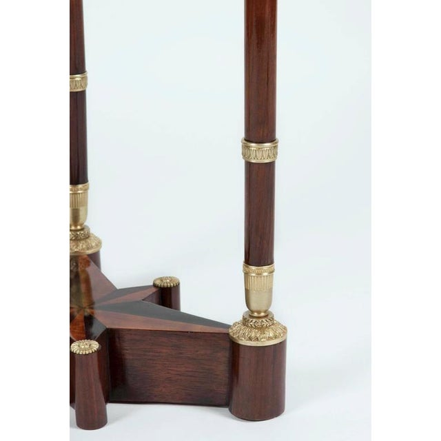 Russian Neoclassical Mahogany, Malachite and Ormolu-Mounted Gueridon For Sale In Boston - Image 6 of 9