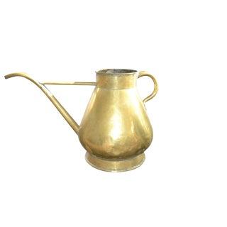 19th Century French Large Brass Watering Can For Sale