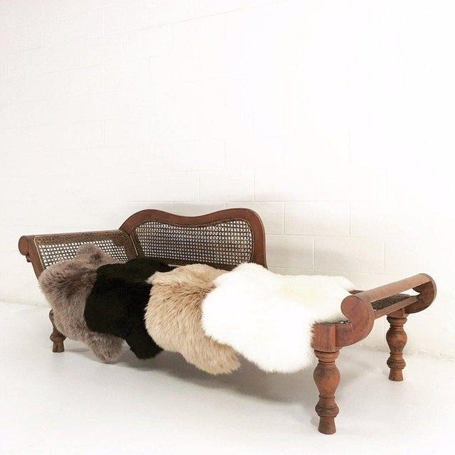 Black Sheepskin Rug - Image 4 of 4