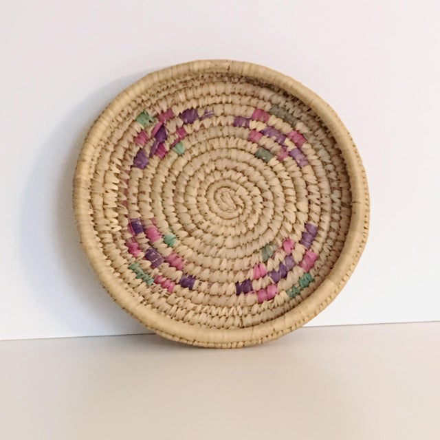 Vintage Boho Chic Hand Woven Basket - Image 4 of 7