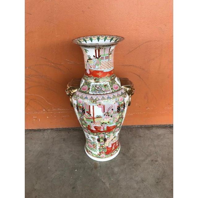 Rose Medallion Floor Vase - Image 3 of 9