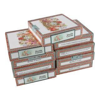 Vintage Mantequilla Cigar Boxes - 9 Pieces For Sale