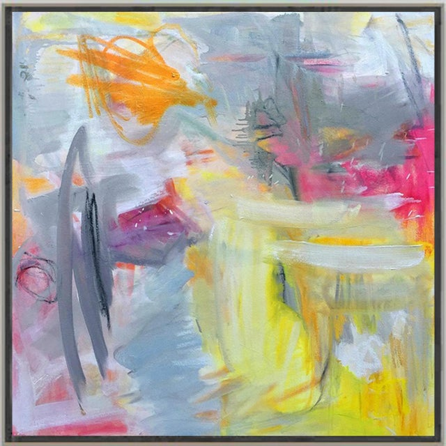 """Abstract """"Partially Sunny"""" by Trixie Pitts Abstract Expressionist Oil Painting For Sale - Image 3 of 10"""