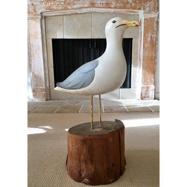 To help satisfy your beach craving and take in that salty breeze, try this large wooden seagull mounted on a wooden...