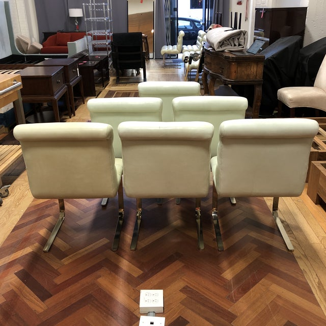 Industrial Mid-20th Century Frank Mariani Pace Collection Laguna Cantilever Chairs, Set of Six For Sale - Image 3 of 11